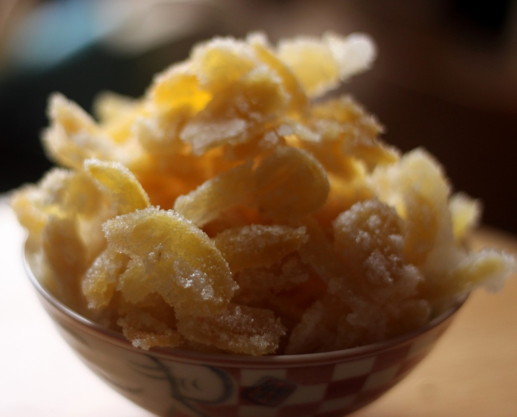 how to eat candied ginger